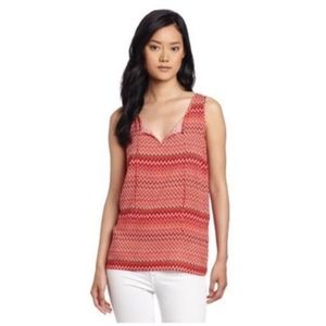 Lucky Brand Margarita Meadow Red Chevron Tank XS